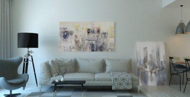 como decorar living moderno y pequeño
